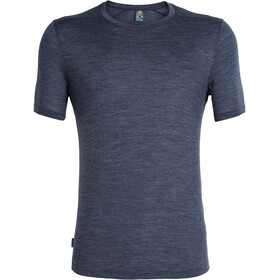 Icebreaker Sphere Camiseta Manga Corta Cuello Barco Hombre, midnight navy heather